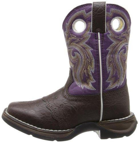 Durango Kids BT286 Lil' 8 Inch Saddle,Dark Brown/Purple,11M Little Kid by Durango (Image #5)