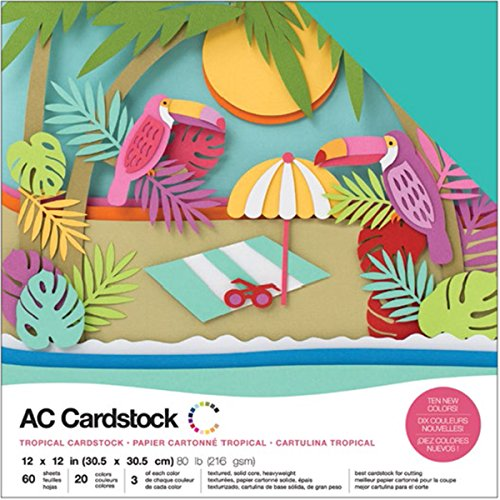 (American Crafts Variety Pack Tropical 60 Sheets of 12 x 12 Inch)