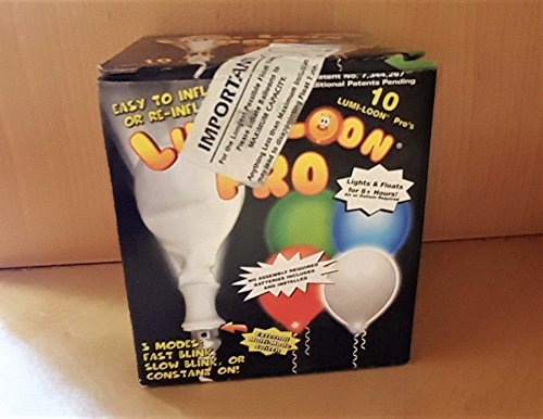 Lumi-Loons Pro White w/Red Lights LED Balloons -