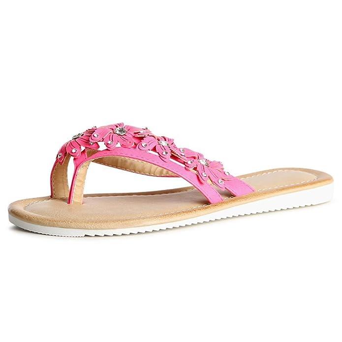 topschuhe24 859 Damen Zehentrenner Sandalen , Farbe:Schwarz;Größe:37