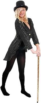 ADULT/'S TAILCOAT FEMALE BLACK  COSTUME WOMEN/'S FANCY DRESS