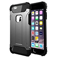 """Vomercy iPhone 6 Plus Case iPhone 6s Plus Cover Shock Absorbing Defender Dual Layer Tough Armor Case for iPhone 6s Plus 5.5"""" Black"""
