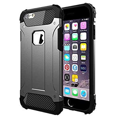 "Vomercy iPhone 6 Plus Case iPhone 6s Plus Cover Shock Absorbing Defender Dual Layer Tough Armor Case for iPhone 6s Plus 5.5"" Black"
