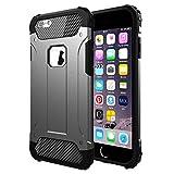 Vomercy iPhone 6 Plus Case iPhone 6s Plus Case Shock Absorbing Defender Dual Layer Tough Armor Protective Case Black
