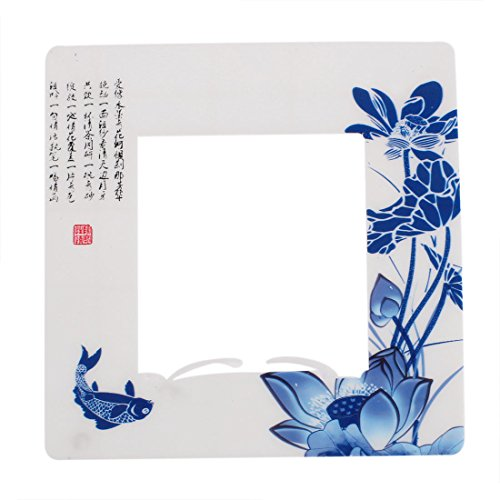 uxcell Lotus Fish Pattern Sticker Socket Cover for 8.5 x 8.5