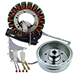 Kit Improved Magneto Flywheel + Stator + Crankcase Cover Gasket For Suzuki LTA 400 Eiger Arctic Cat 400 Auto 2002-2008 OEM Repl.# 32102-38F00 32102-38F01 3430-054 3430-071 32101-38F00 0802-037