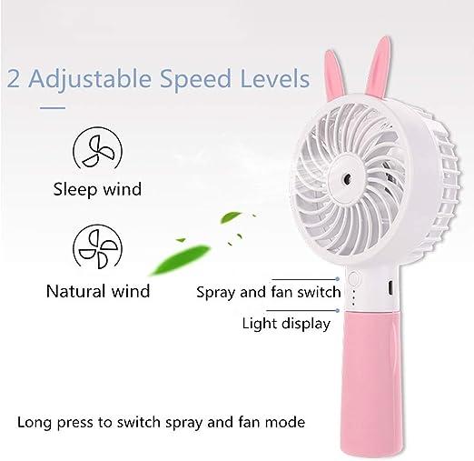 Mini Fan USB Charged Animal Fan Favorite Fan Portable Dormitory Desktop Fan for Office Outdoor Sport Household Traveling Camping