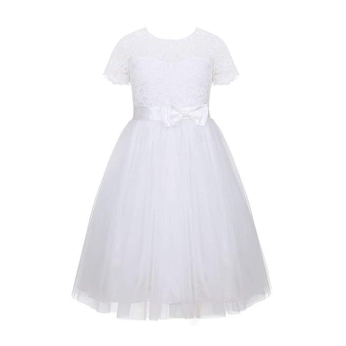 Princesa Vestido Niñas Dama De Vestidos Yizyif Honor Boda UMpSzVGq