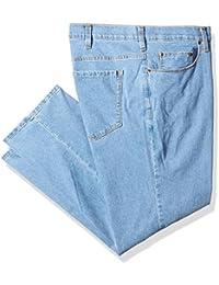Men's Big and Tall Active-Flex Light Stone-Wash Stretch-Denim Jean