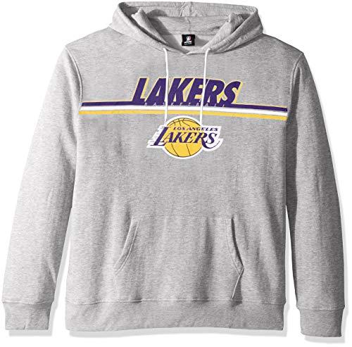 UNK NBA Adult Los Angeles Lakers Men's Fleece Hoodie Pullover Sweatshirt Out of Bounds, Gray, Large (Hoodie Los Angeles Lakers)