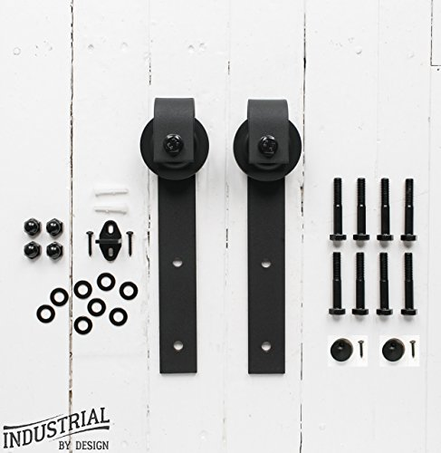 (INDUSTRIAL BY DESIGN – Standard Sliding Barn Door Hangers (Pair) – Ultra Smooth and Quiet - Extra Hangers Only – Designed in USA)