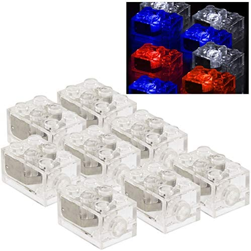 Light Brick 1 x 2 with Single Side Light Brand New Lego White Electric
