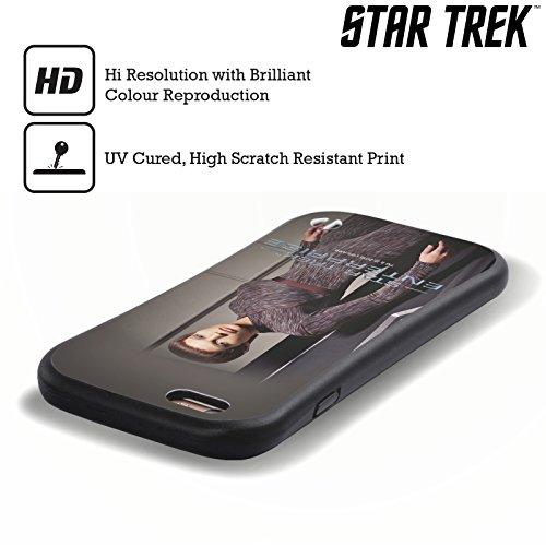 Officiel Star Trek Tpol Personnages Iconiques ENT Étui Coque Hybride pour Apple iPhone 5 / 5s / SE