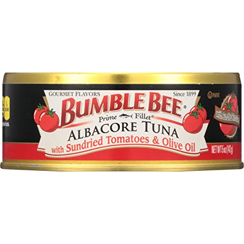 Bumble Bee Prime Fillet Solid White Albacore Tuna in Olive Oil, Sundried Tomato, 5oz can (Pack of 12)