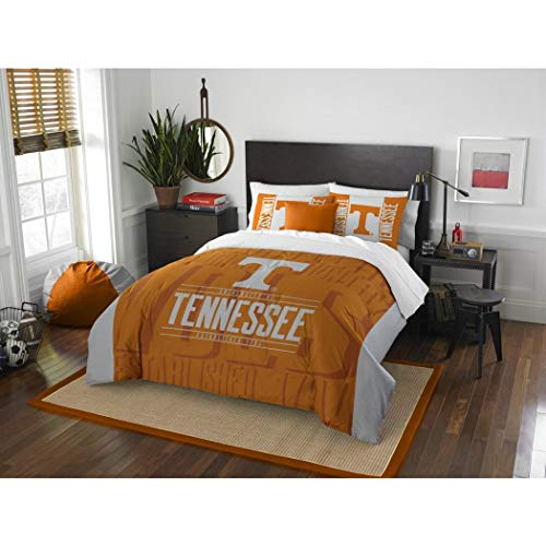 D-UNKN 3pc NCAA Tennessee Volunteers College Comforter Full Queen Set, Sports Patterned Bedding, Orange, Team Spirit, College Basket Ball Themed, Fan Merchandise, Team Logo