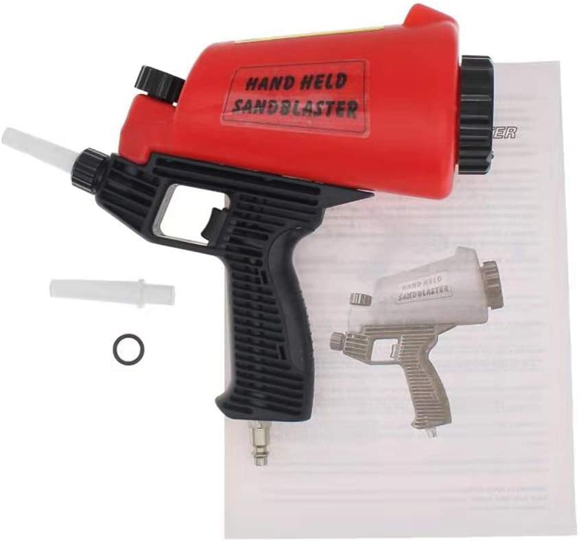 Druckluft Sandstrahlpistole mit Trichter rotes Sandstrahlger/ät