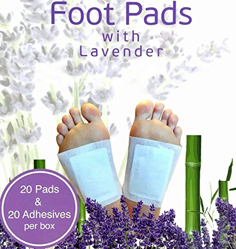 Foot Pads Patches For Pain Relief | Adhesive Foot Care Patch To Remove Impurities, Relieve Stress & Improve Sleep | Lavender Infused For a Relaxing & Calming Aroma - 20 Pack