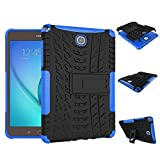 DWay Tablet Case Samsung Tab A 8.0 T350 Armor Hybrid Design with Stand Feature Detachable Dual Layer 2 In 1 Combo Protective Shell Phone Hard Back Cover Case for Samsung Galaxy Tab A 8.0 inches T350 (Blue)