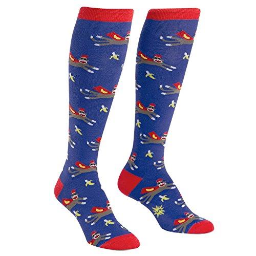 Sock It To Me, Knee High Funky Socks: Animals (Super Sock Monkey) -