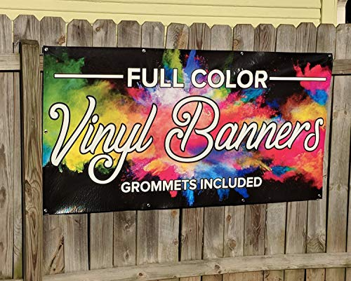 CELYCASY Custom Full Color Banner - Outdoor Banner - - Full Vinyl Colour Banner