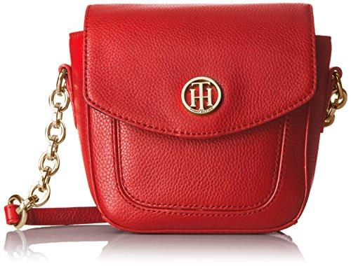 Tommy Hilfiger Saddle Bag for Women TH Leather, Racing (Tommy Hilfiger Saddle)