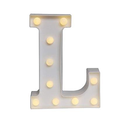 Amazon.com: Sunnyglade - Luces LED blancas con números ...