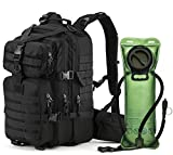 MIRACOL Military Tactical MOLLE Bug Out 3 Day Assault Pack 33L Backpack for Outdoor Travel, Black