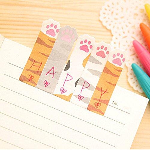 Doitsa Notes Autocollants Dessin Anim/é Paresseux Chat Panda Pense-b/ête Notes Combin/ées size 10.5*5.5cm