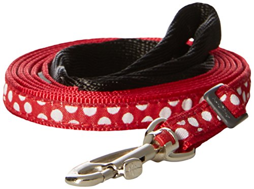 Red Dingo Dog Lead, Red with White Dots, 12mm/Small