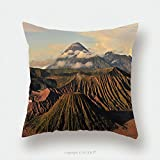 Custom Satin Pillowcase Protector Volcano Mountain Landscape Of Mount Bromo At Indonesia_188076101 Pillow Case Covers Decorative