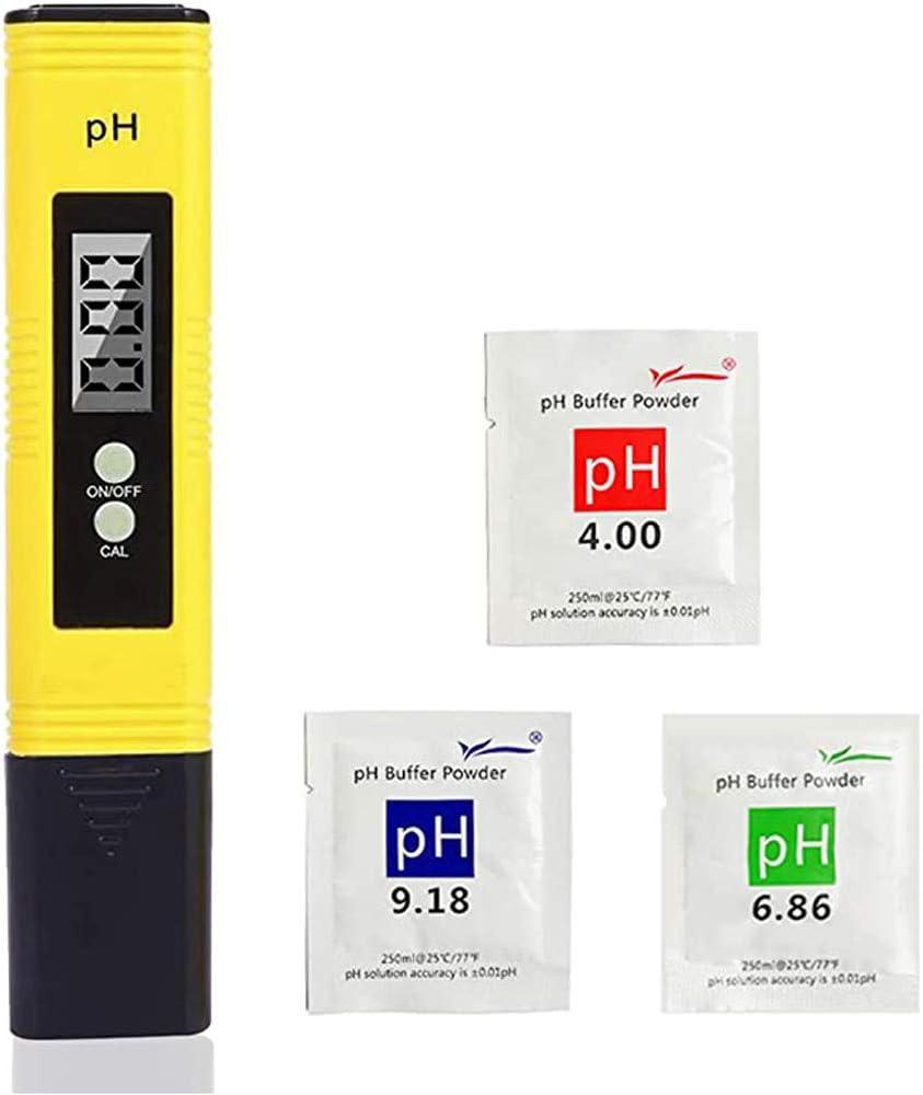CNSTZX Medidor PH, Medidor de PH TDS EC Temperatura 4 en 1 Digital con Pantalla LCD Resolución 0.01 Calibración Automática para Acuario, Piscina de Agua Hidropónica, Laboratorio