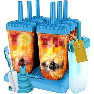 HelpCuisine® Stampi ghiaccioli - Stampi per Gelati Realizzati in plastica di Alta qualità priva di BPA e Approvata dalla… 10