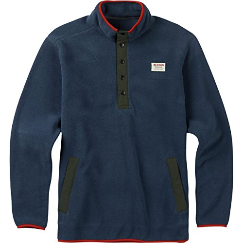 Burton Men's Hearth Fleece Anorak Sweaters, Mood Indigo, ()