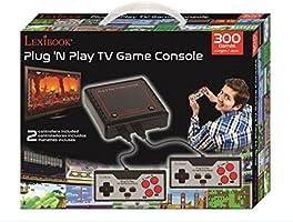 Amazon.es: LEXIBOOK Consola De Televisión con 300 Juegos Vídeo Interactivos Deportivos, Negro/Gris/Rojo, JG7800 300vídeojuegos, Color