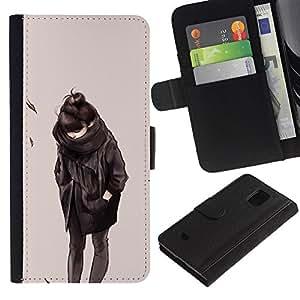 JackGot ( Emo Girl 2 ) Samsung Galaxy S5 Mini (Not S5), SM-G800 la tarjeta de Crédito Slots PU Funda de cuero Monedero caso cubierta de piel