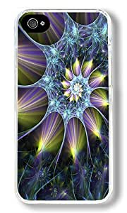 Beautiful 3d Abstract Custom iPhone 4S Case Back Cover, Snap-on Shell Case Polycarbonate PC Plastic Hard Case Transparent