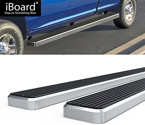 Off Roader Eboard Running Board 4 Silver Fits 2009-2018 Ram 1500 Crew Cab Pickup 4Dr /& 2010-2018 Ram 2500//3500 Nerf Bar | Side Steps | Side Bars