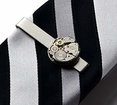 Steampunk Tie Clip, Gifts For Husband, Father's Day Gift, Gift Box Included