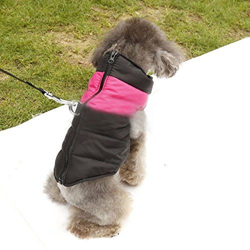 Dea Dog Costume (Dealglad® Small Pet Dog Puppy Waterproof Winter Warm Padded Puffer Vest Coat Down Jacket Clothes Costume Apparel (Pink, S-XS))