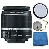canon 60d package deal - Canon EF-S 18-55mm f/3.5-5.6 IS II Lens (White Box) + AUD Essential Accessory Bundle For Canon SL1 T5i T5 T4i T3i T3 60D 70D T2i T1i Xsi XS DSLR Cameras