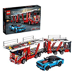 LEGO Technic Bisarca con Auto da Trasportare,Modello 2in1,Set di Costruzioni Avanzato, 42098  LEGO