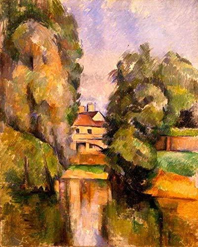 Casa de Campo - Paul Cézanne - 50x62 - Tela em Canvas Para Quadro