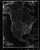 Vintography NOAA Blueprint Style 18 x 24 Nautical Chart Map of North America US Geological Survey 45a