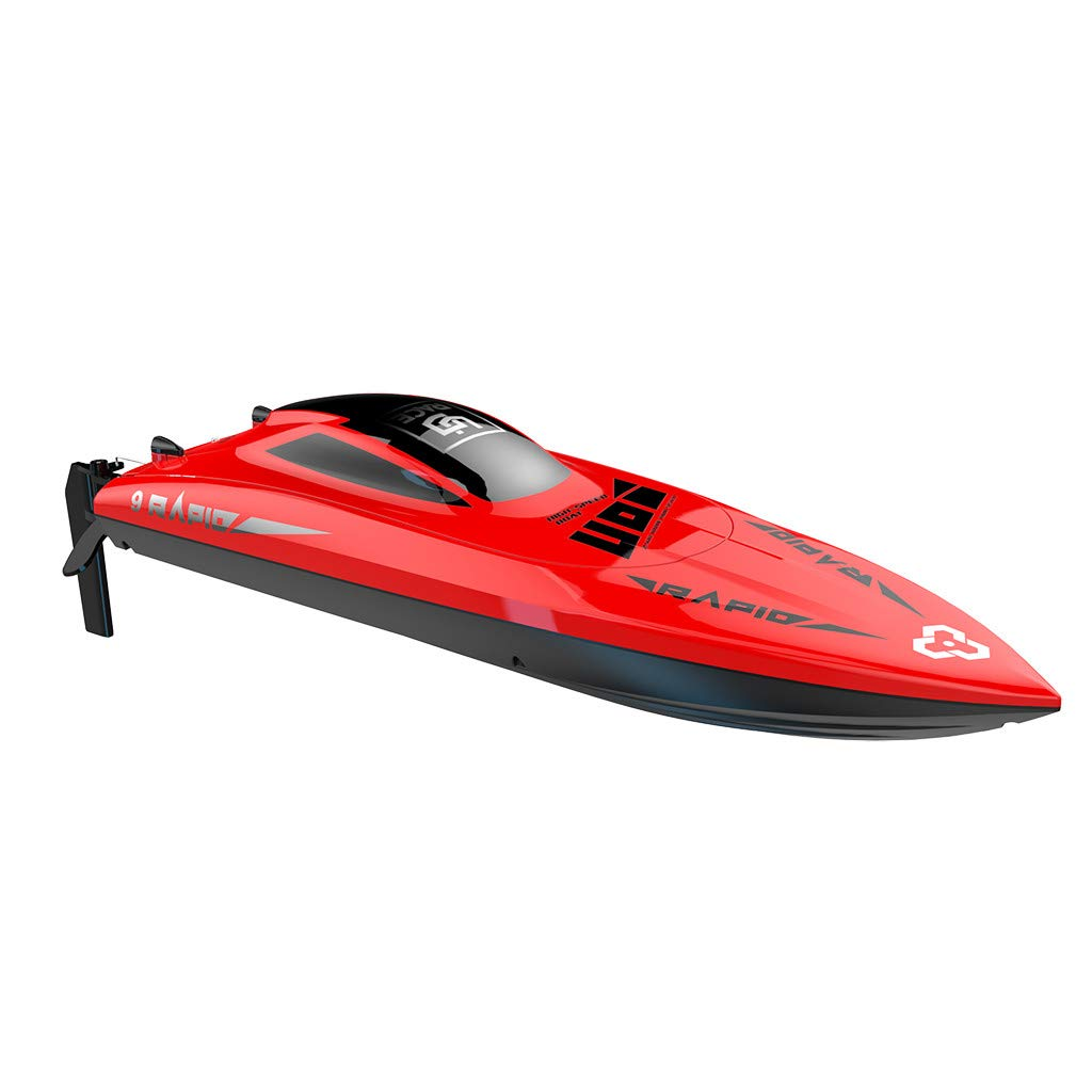 ✈Shipping from The United States ✈Rc Boats RC Boats For Kids And Adults 30 KM/H High Speed Boats For Lakes Rivers Pools Toy Boats RC Boat RC Boats Radio for Adults RC Racing Boat High Speed (Red) by DICPOLIA (Image #1)