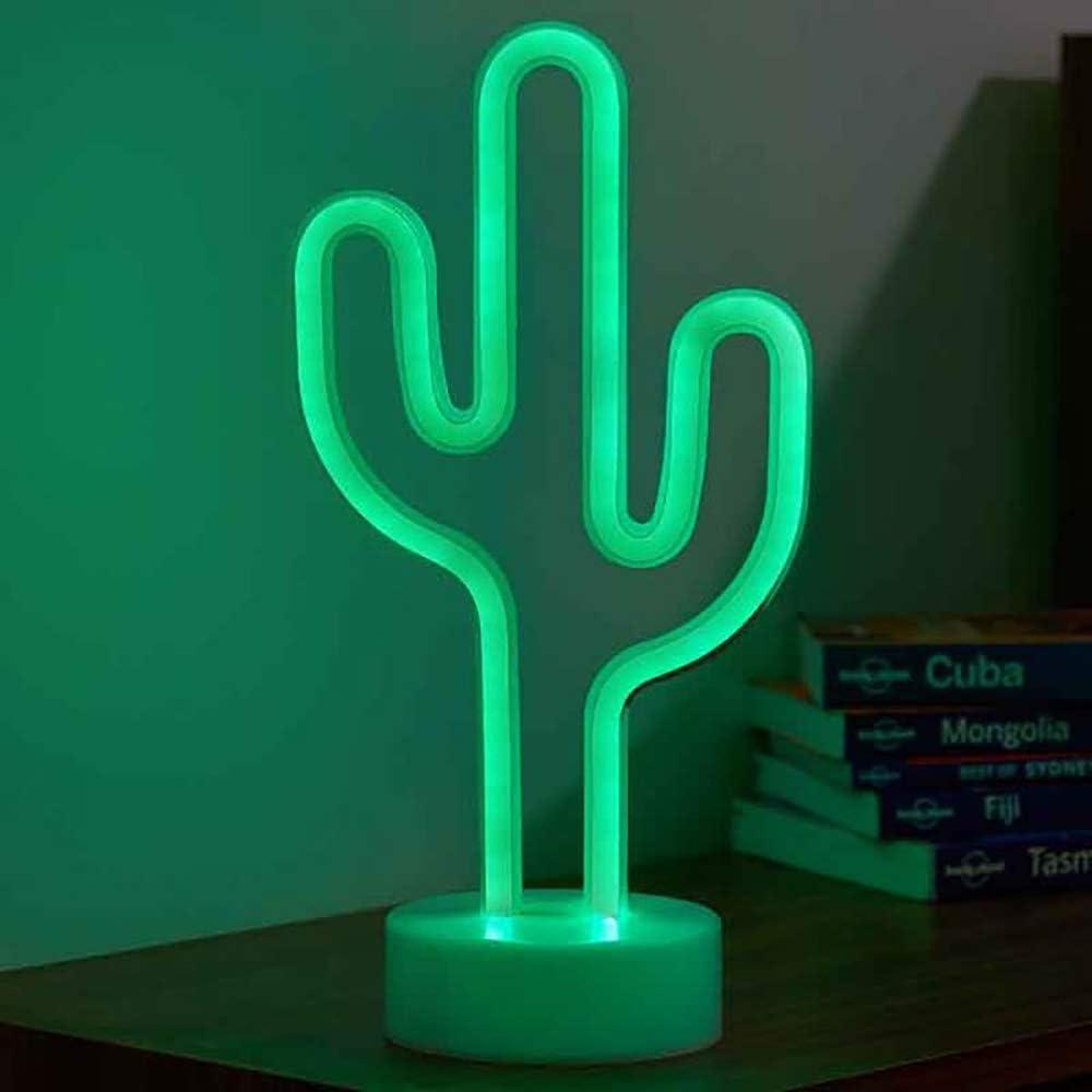 batterie- und USB-betrieben Cactus LED-Neon-Deko-Lichtschild Eureka Lightning Smart Garden Products