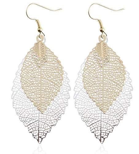Double Leaf Drop Earrings - Earrings Vintage In Ball