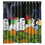 Custom Halloween Dark Night Scary Ghost Waterproof Polyester Shower Curtain 66x72