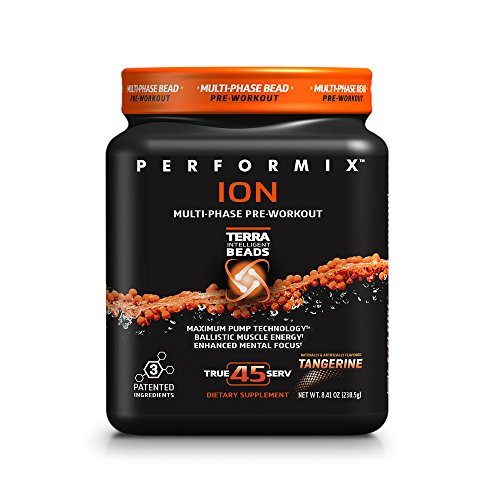 (PERFORMIX ION MultiPhase PreWorkout, Maximum Pump Technology, Ballistic Muscle Energy, Enhanced Mental Focus, 45 Serving, Tangerine )