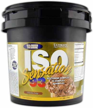 Ultimate Nutrition ISO Sensation 93 Chocolate Fudge 5 Lb Tub
