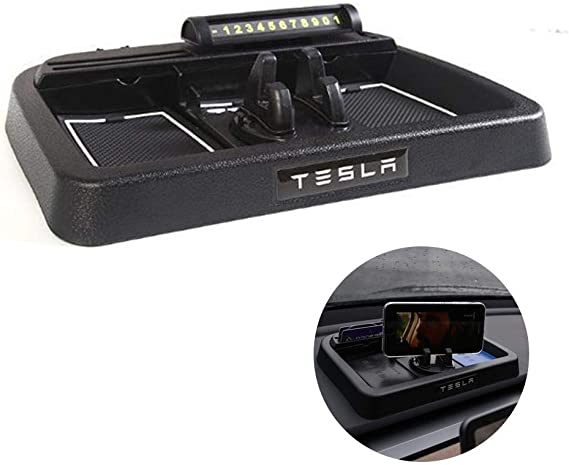 SODIAL Central Console Storage Box Car Interior Accessories Container Content Drawer Box for Tesla Model X//Model S